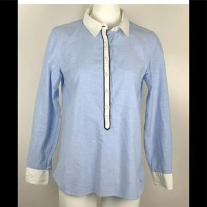 Tommy Hilfiger Cotton Roll Tab Sleeve Button Shirt